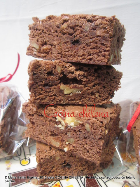 BROWNIES DE CHOCOLATE Y NUEZ